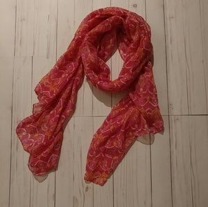 Beautiful scarf -All for color-pink, yellow, white